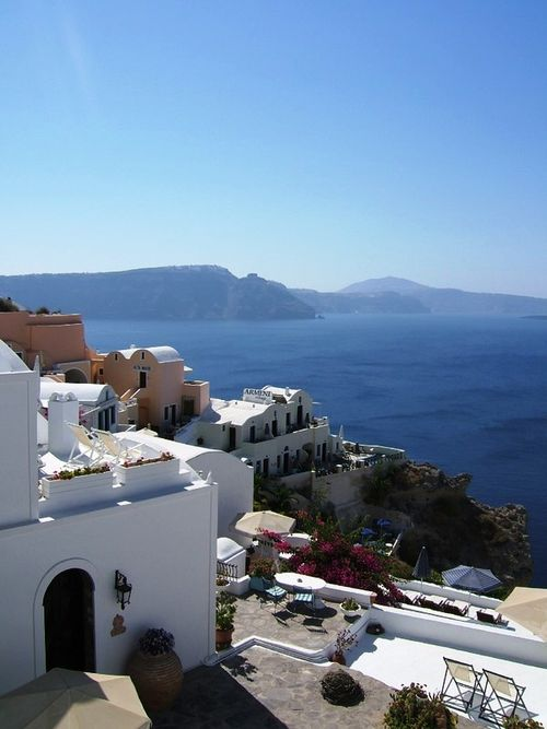 View on Oia Greece