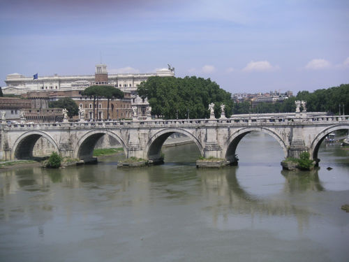 Ponte across the Tiber River in Rome