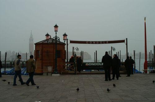 Venice gondola stand