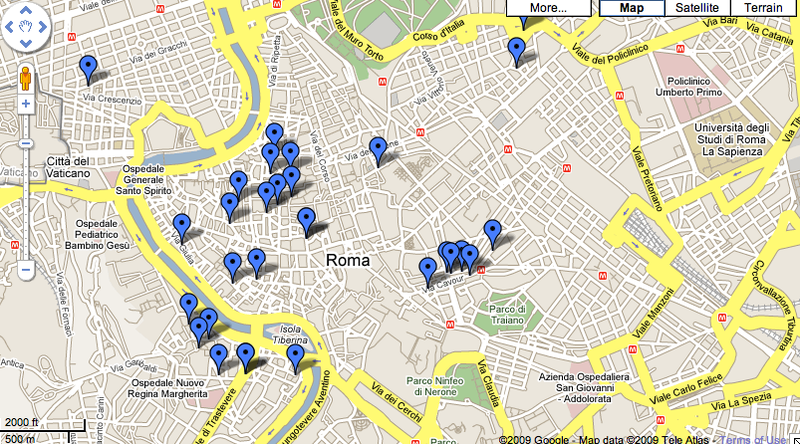 My Rome Google Map