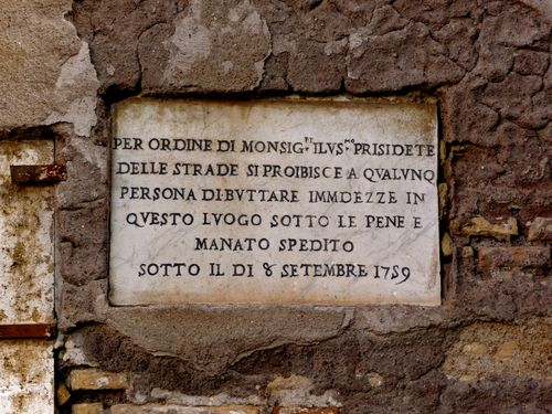 Roman Sign in Stone