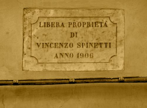Property of Vincenzo Spinetti Year 1906