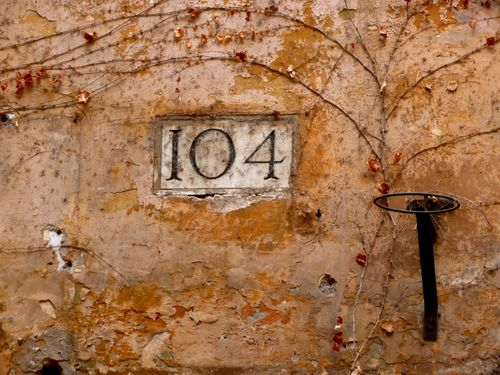 Rome Numbered Street Sign