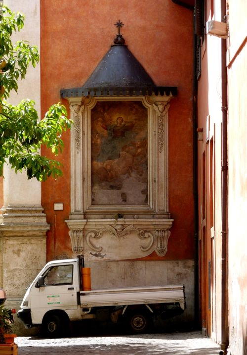 Shrine and Ape in Trastevere, Rome